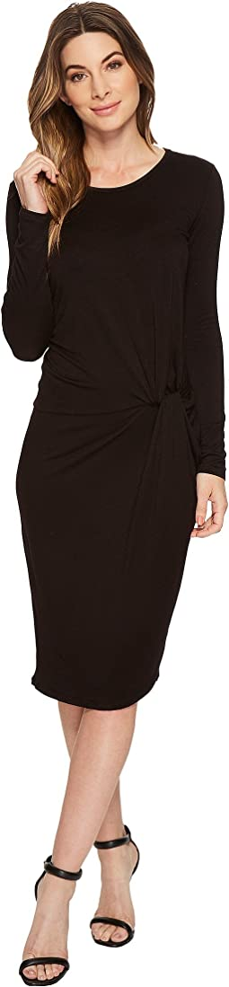 Aubrey Long Sleeve Knotted Dress