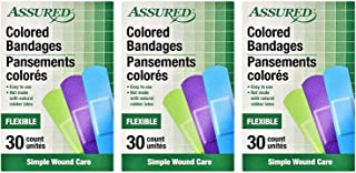 Neon Colored Flexible Adhesive Bandages, 90-count