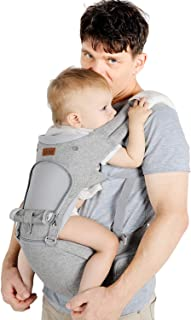 Lictin Baby Carrier 6-in-1 Ergonomic Backpack Carry for Infants from 3.5KG to 20KG, 1 Pacifier Chain, with ASTM Certificat...