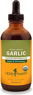 Herb Pharm Certified Organic Garlic Liquid Extract for Cardiovascular and Circulatory Support - 4 Ounce