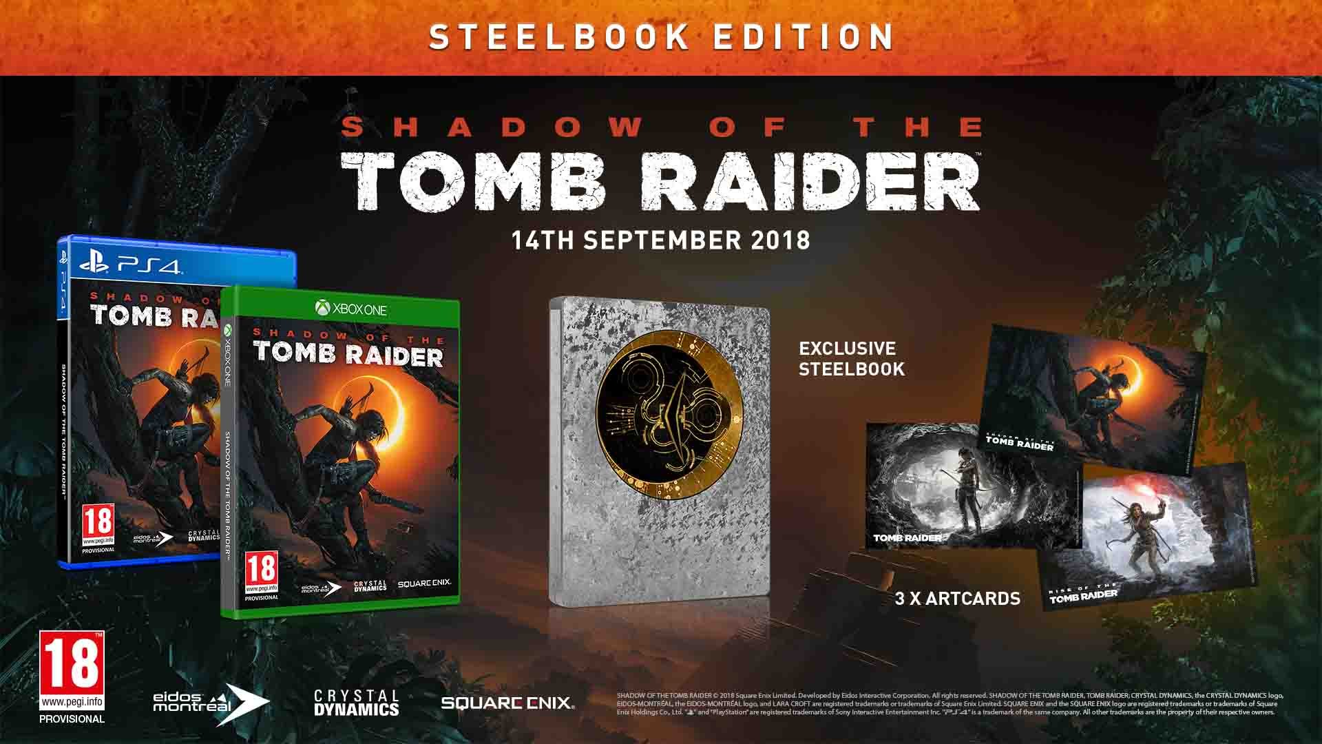 Shadow of The Tomb Raider - Steelbook Edition - XboxOne ...