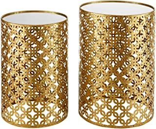 Linon Nesting Table in Gold (Set of 2)