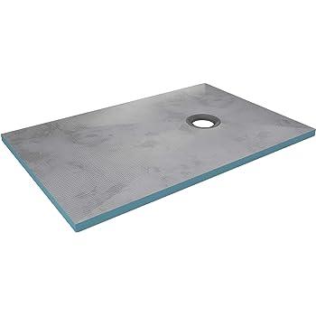 STEIGNER Receveur de Douche Mineral Basic Drain Ponctuel D/écentralis/é Position 4 Drain Horizontal 90x140 cm