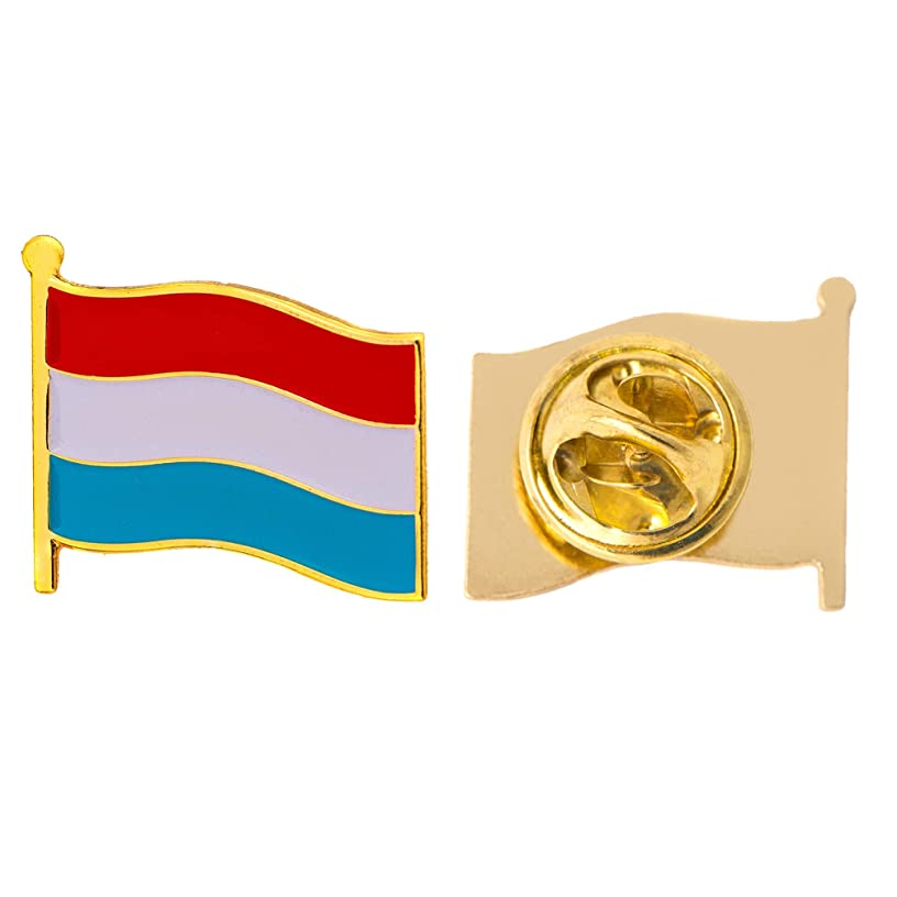 Luxembourg Country Flag Lapel Pin Enamel Made of Metal Souvenir Hat Men Women Patriotic (Waving Flag Lapel Pin)