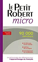 Le Petit Robert micro (Dictionnaires Le Robert) (French Edition)