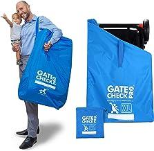 Gate Check PRO XL für Doppelkinderwagen | Transporttasche/Rucksack für Kinderwagen, Buggy | Ultrastrapazierfähiges Ballistic-Nylon| Kinderwagentasche m. gepolsterten Rucksackriemen für mehr Komfort