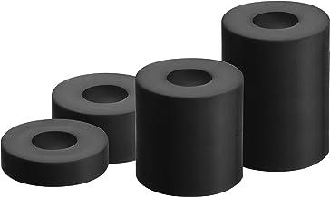 GAH-Alberts 338725 afstandshuls   kunststof   kunststof, zwart   20 stuks in 4 maten   20 x 5 mm / 20 x 10 mm / 20 x 20 mm...