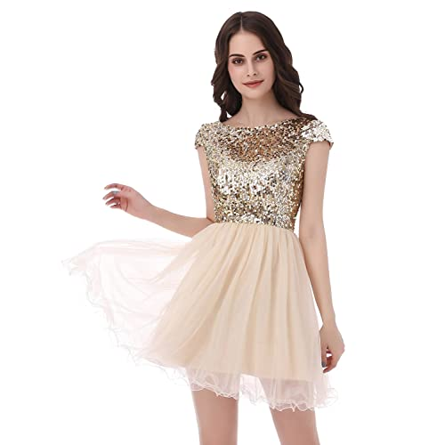 b941d776e Belle House Junior's Short Tulle Homecoming Dresses with Sleeve Prom Gowns