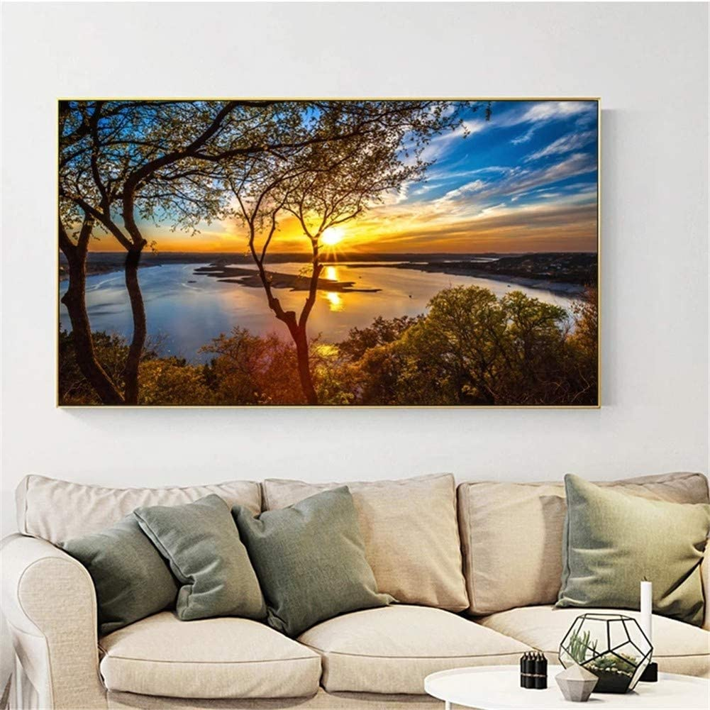 Challenge the lowest price of Japan DIY 5D Diamond Painting Kits for Adults Sky Paint Tree lowest price Sunset wi