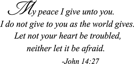 My Peace I give Unto You. I do not give to You as The World Gives. Let not Your Heart be Troubled, Neither let it be Afrai...