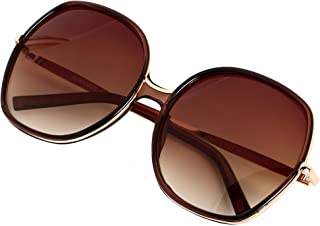 Oversized Sunglasses Big Large Women Square Wide Black Brown Retro Trendy Pink