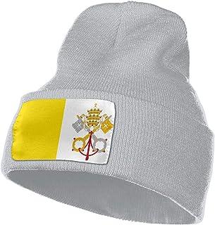 c65744081ba7a LWI DIW Cool Vatican Flag Unisex Knit Winter Warm Cap Plush Hat Beanie Hat
