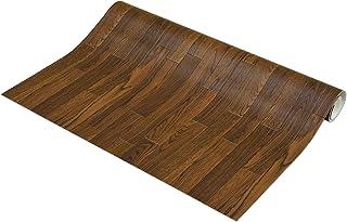 フリーカット 敷くだけリメイク床シート 木目 ダーク 約90×300cm