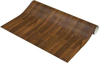 フリーカット 敷くだけリメイク床シート 木目 ダーク 約90×500cm