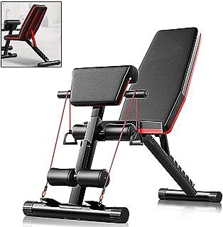 comprar comparacion AJUMKER Banco de pesas plegable, banco de entrenamiento de piernas 4 en 1 para entrenamiento en casa, gimnasio, multifunci...