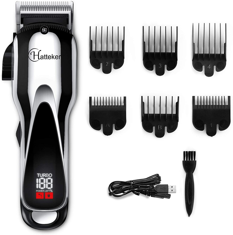 Max 46% shop OFF Hatteker Pro Hair Clipper Cordless Mens Trimmer Trimm Beard