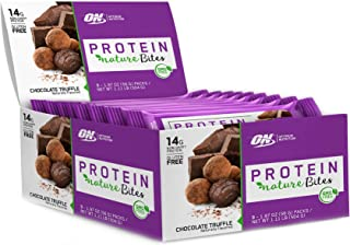 New! Optimum Nutrition Nature Bites, Decadent Protein Snack, Vegan Snack, Gluten Free, GMO Free, Flavor: Chocolate Truffle, 9 Count