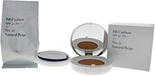 Laneige BB Cushion SPF 50+ Pa+++ Foundation, No. 21 Natural Beige, 2 Count