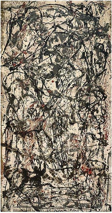 Jh Lacrocon Foret Enchantee De Jackson Pollock 65x120 Cm Peintures Abstrait A Main Tableau Reproduction Sur Toile Roulee Decoration Murale Pour Salon Amazon Fr Cuisine Maison