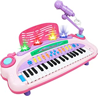 Kiddie Play Electronic 37-Key Toy Piano Keyboard for Kids wi