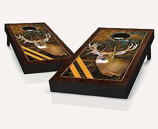Framed Deer Cornhole Boards With Set of 8 Cornhole Bags