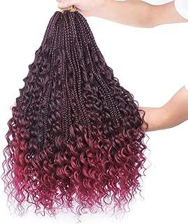 Best burgundy large box braids Reviews