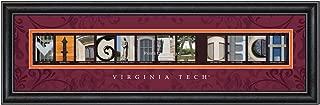 Prints Charming Letter Art Framed Print, Virginia Tech-Virginia Tech, Bold Color Border