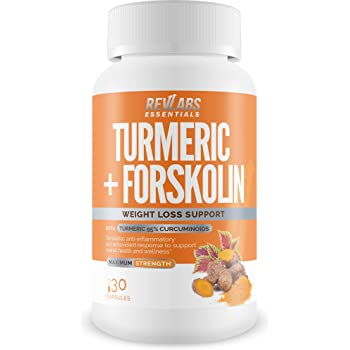 Turmeric Plus Forskolin - Turmeric Curcumin 95% with Bioperine Black Pepper Extract for Maximum Absorption. Anti-Oxidant and Anti-Inflamatory for Joint Pain Relief and Weight Support.