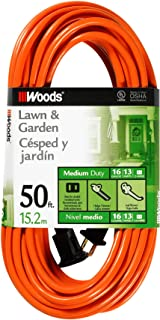 Woods 0723 16/2 SJTW General Purpose Extension Cord, Medium Duty, Ideal for Landscaping..