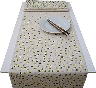 Camino de mesa puntos verdes,Manteles modernos, BeccaTextile.