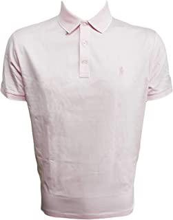 Polo Ralph Lauren Mens Custom Slim Fit Polo, Pink MU, Large