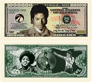 American Art Classics Limited Edition Michael Jackson King of Pop Commemorative Million Dollar Collectible Bill