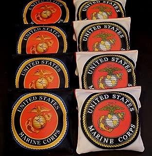 BackYardGamesUSA US Marine Corps Eagle Globe Emblem 8 ACA Regulation Custom Cornhole Bags B242