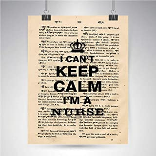 YOLIYANA Can't Keep Calm I AM A Nurse Vintage Photo Great Gift for Steampunk,8 x 10 inches(Unframed)