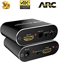 Anbear 4K HDMI to HDMI + Optical Toslink SPDIF Audio 3.5MM AUX Stereo Audio Out, HDMI Audio Extractor Splitter Adapter Support 4K@60Hz Full HD and 3D