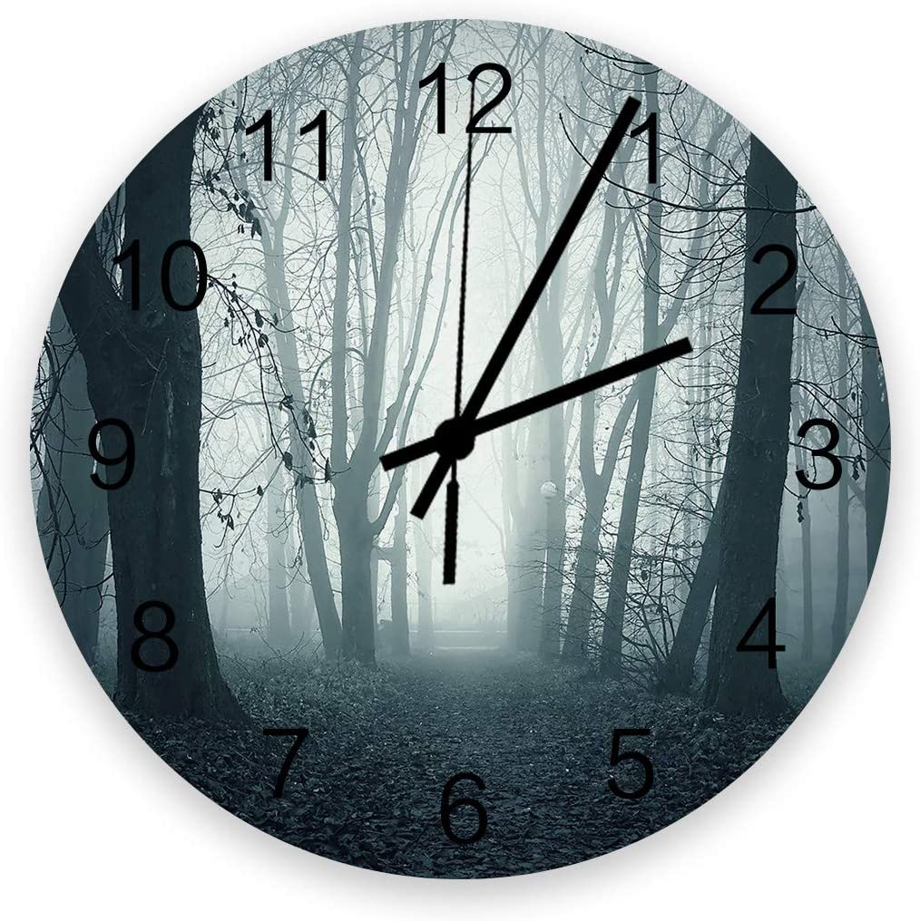 EwdeWwo 12 Special price for a limited time Inch Silent Non-Ticking Round Ranking TOP13 Wall Path Clock Dark in