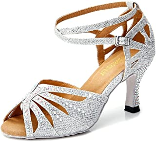 95879c083aa4 TTdancewear Women Rhinestone Ballroom Dance Shoes Latin Salsa Performance Dance  Shoes