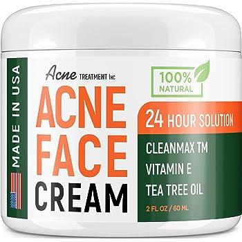 Amazon Com Acne Treatment Natural Cream Made In Usa Acne Scar