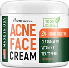 Acne Treatment Natural Cream - Made in USA - Acne Scar Removal & Acne Spot Pimple Cream with Tea Tree Oil - Safe & Intensi...