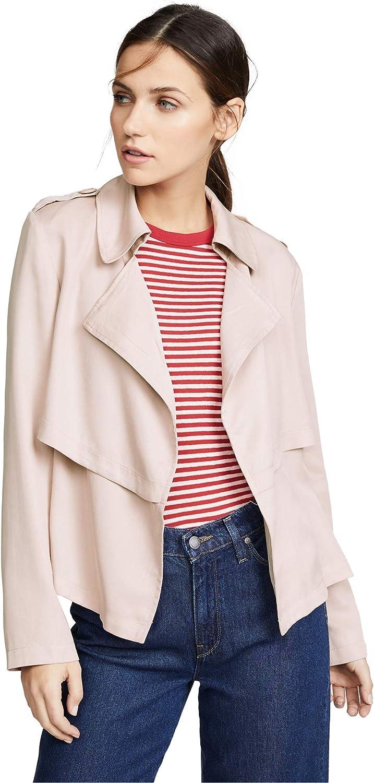 BB DAKOTA Women's Double Agent Tencel Cropped Trench Jacket
