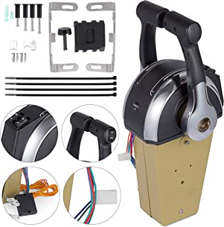 Mophorn Twin/Dual Engine Console Remote Control 8M0041426 Boat Motor Side Mount Remote Control Box for Mercury Outboard Engine PT 8M0075245