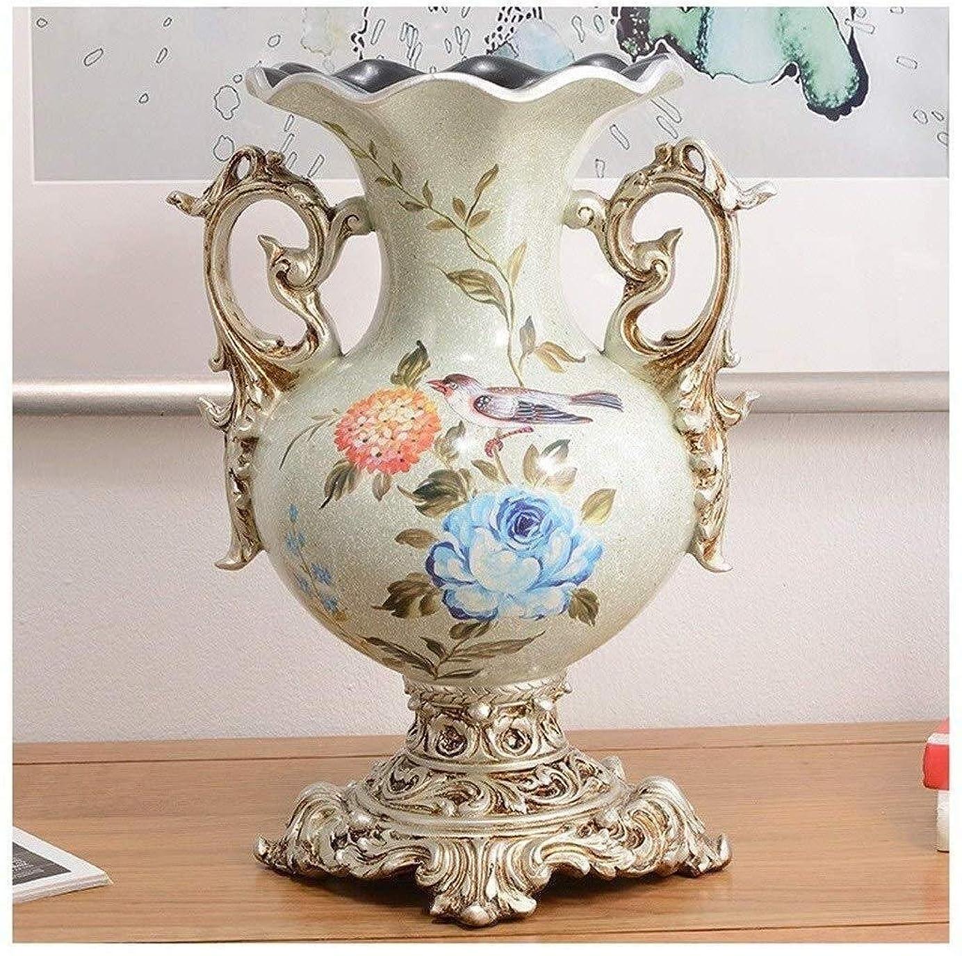 を除く哀燃料花器 クリエイティブレトロな樹脂花瓶ルーム花飾り美しい外観クリスマス家具の芸術作品完璧な状態レジン 花瓶