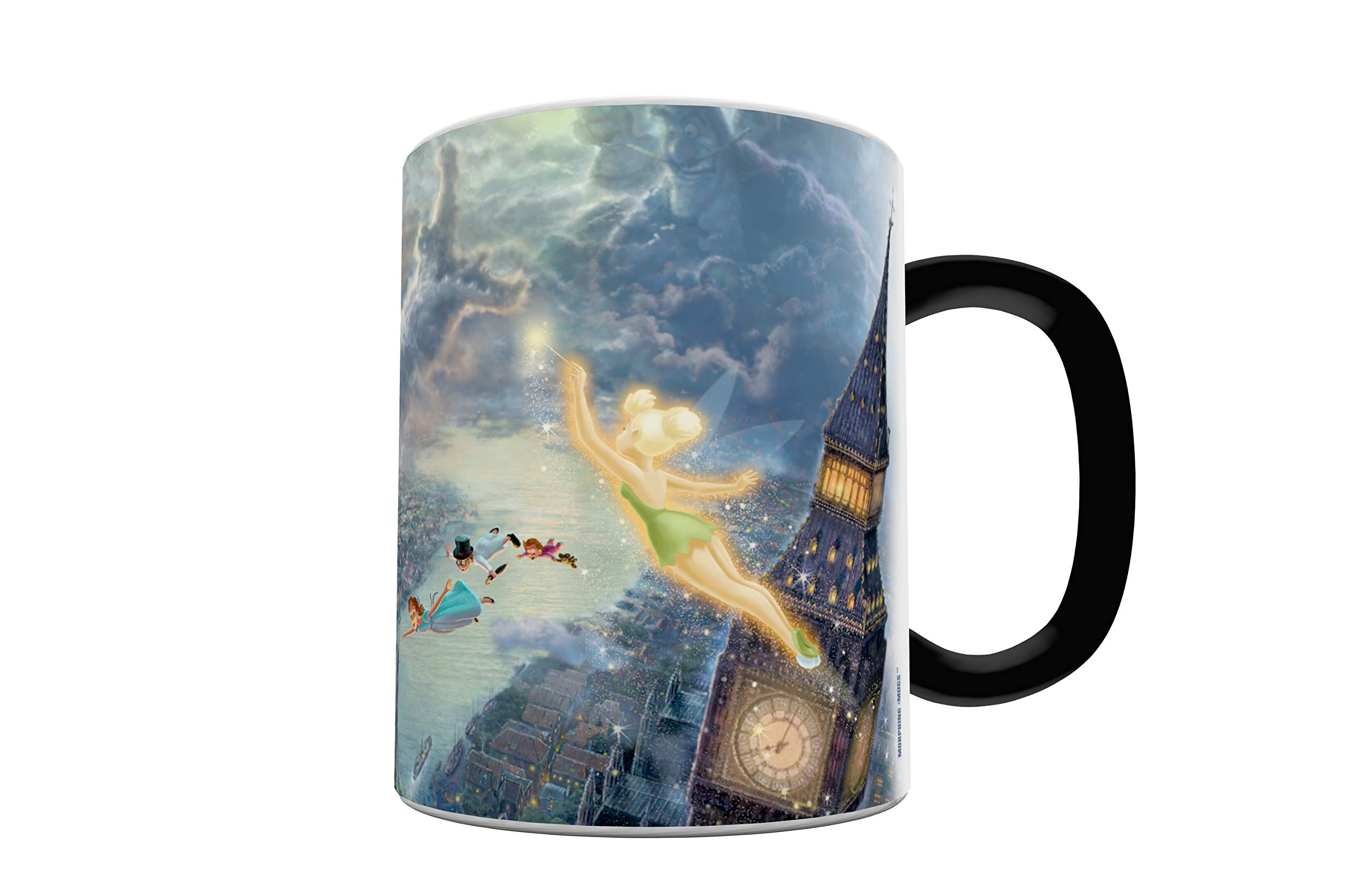 Disney - Peter Pan - Tinker Bell - Fly to Neverland - One 11 oz Morphing Mugs Color Changing Heat Sensitive Ceramic Mug – Image Revealed When HOT Liquid Is Added!