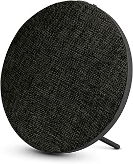 Portable Wireless Bluetooth Speaker with High Sound Quality,Bookshelf Desktop Fabric Speakers, Loud Volume,Rich Bass,Microphone,Hands-free Calling,AUX input,Suitable for Indoor&Outdoor(Black)