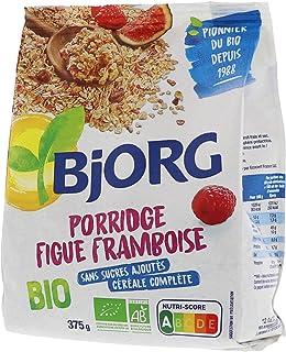 Bjorg Porridge Figues Framboises Bio - Céréale complète pour le petit-déjeuner - 375 g