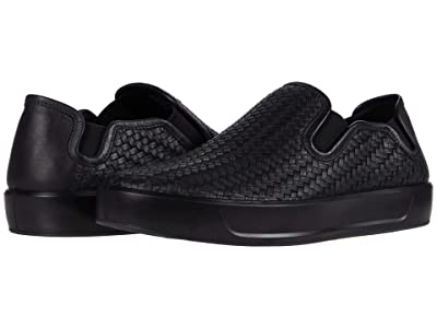 ECCO Soft 8 Woven Slip-On (Black) Men