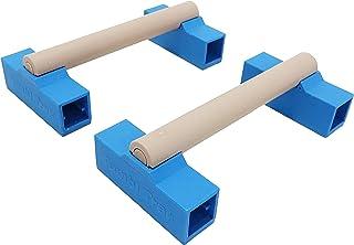 Tumbl Trak Portable Parallette Bars, Blue