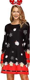 Women's Christmas Printed Tunic Dress