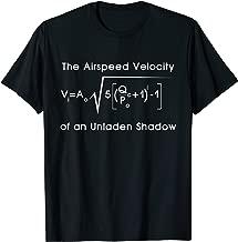 Airspeed Velocity Of An Unladen Swallow Math Physics T-Shirt