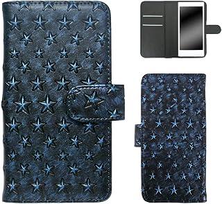ホワイトナッツ Galaxy S3 progre SCL21 スマホケース 手帳 星模様 ブルー ケース ギャラクシー エススリー プログレ 手帳型 カバー スマホカバー WN-OD117847_ML